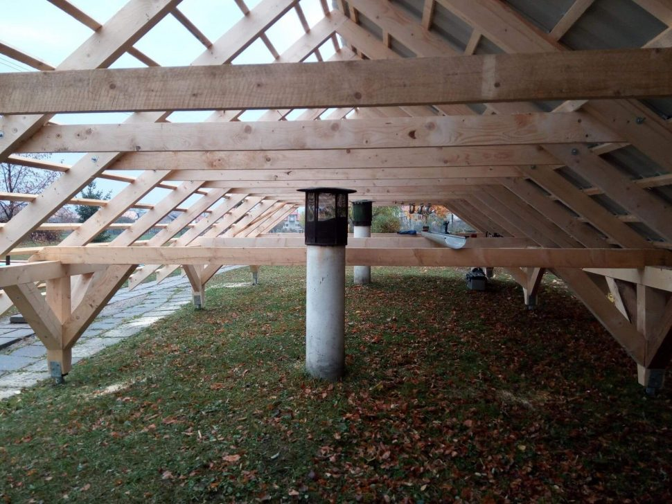 Isometall - zemné vruty - strecha