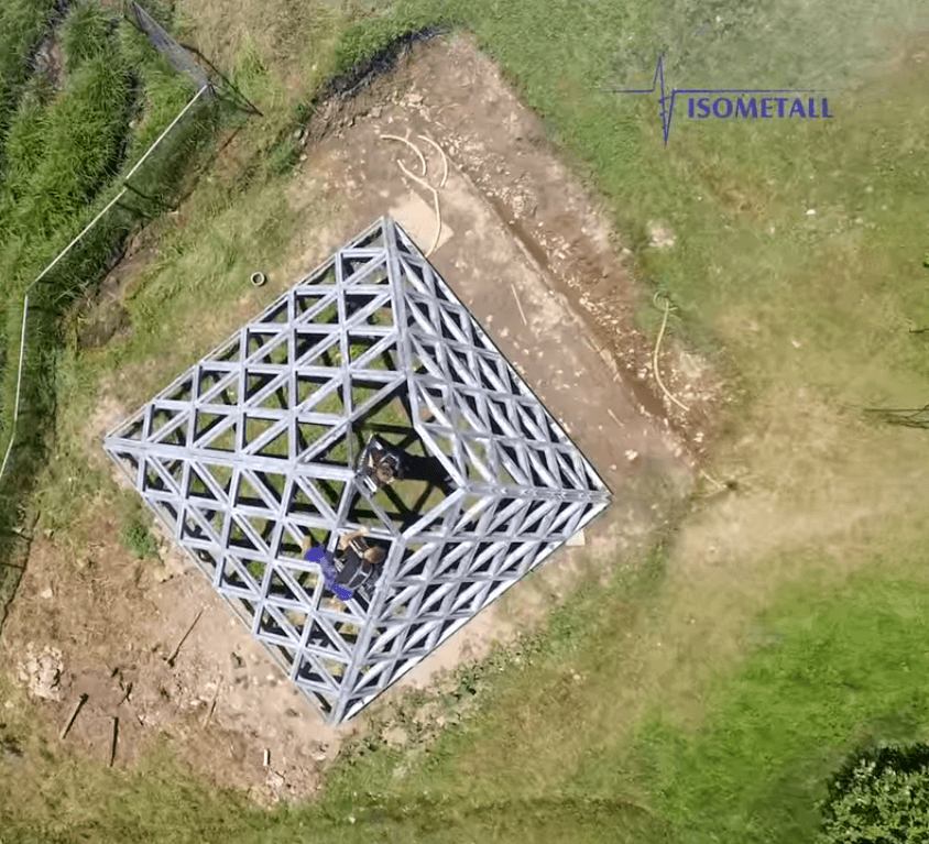 Isometall - zemné vruty - pyramída